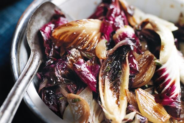 Braised treviso with sage & balsamic