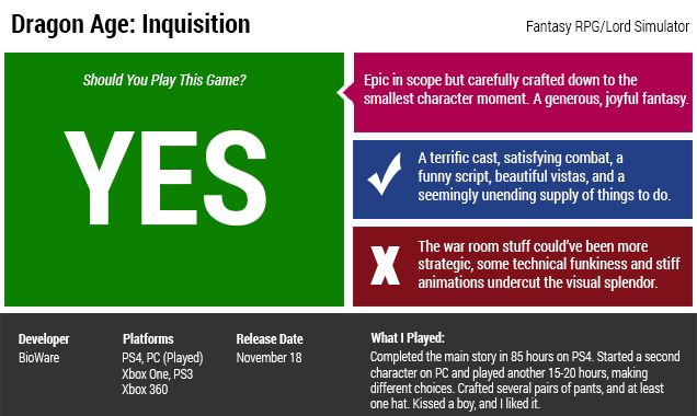 ​Dragon Age: Inquisition: The Kotaku Review