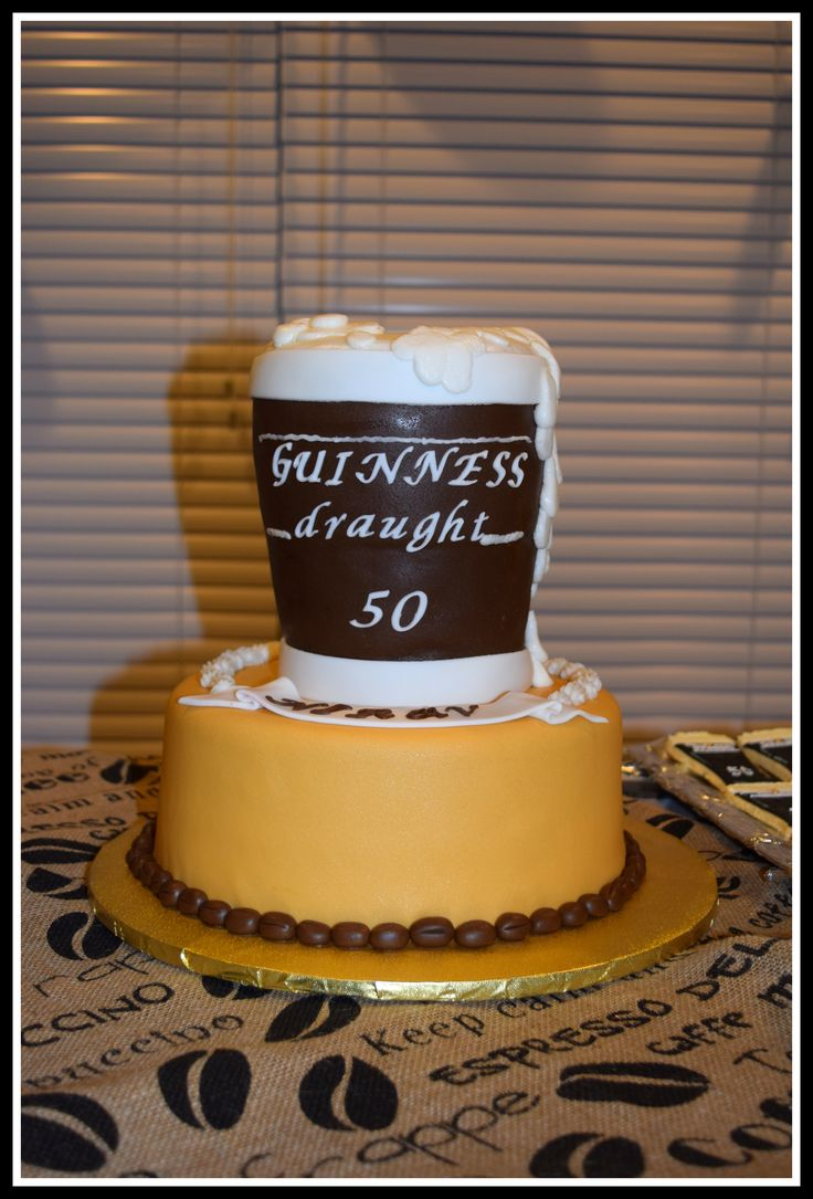 Guinness Cake For 50 Th Birthday Party For Men For Coffee
