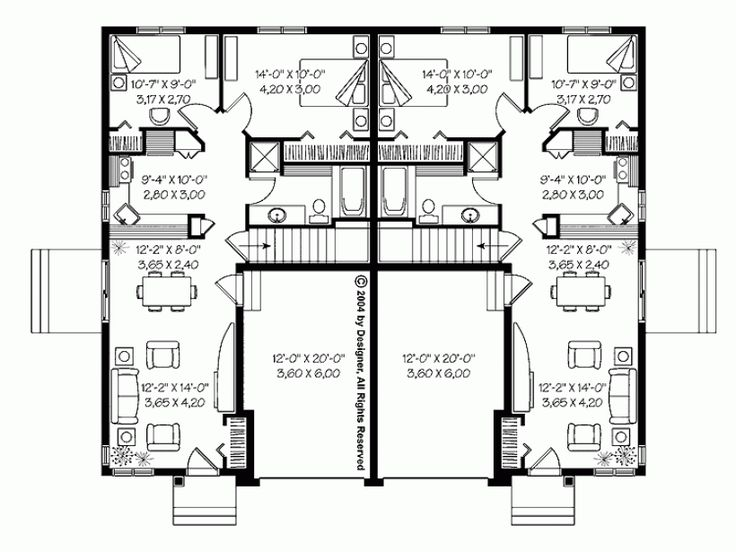 Bungalow townhouses granny flats and small houses for Small townhouse floor plans