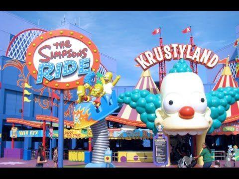 Universal Studios The Simpsons! Ride POV Full HD Ride at Universal Studios Hollywood