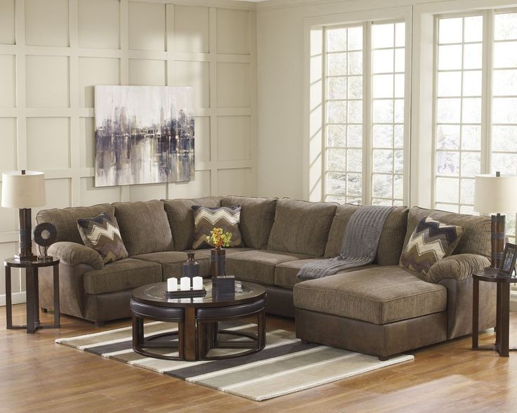 Ashley Furniture Cladio Sectional in Hickory : ashley cowan sectional - Sectionals, Sofas & Couches
