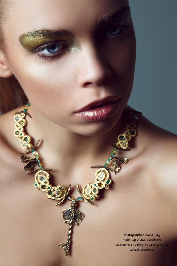 Fashion Jewellery by Yulia Logvinova.  #necklace #woman #fashion #gift #soutache #beads  #designer jewelery  #jewelery  #jewelry  #jullery  #yulia #logvinova