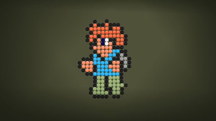 #Terraria is a fun game I used to play a year ago. It's got some amazing songs in its soundtrack (by Scott Lloyd). I decided to make my own versions of #Overworld Day and Boss 2 themes. Along with the music I present you with another bottle cap pixel art. This time it shows a random Terraria player character. Hope you like it. :)  Music and art by MotionRide.