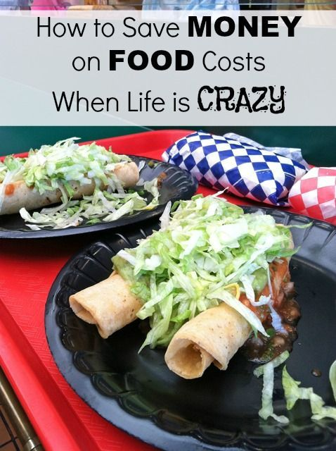 How to Save Money on Food Costs When Life is Crazy - We all gotta eat. No matter how busy we are. But our business can put the pounds on our bodies and make our wallets shrink. Follow these tips for saving money on food when life is crazy. save money on food frugal meal ideas, meal planning tips and budget recipes!