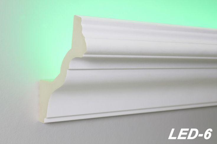 10 Meter LED Profil PU Stuckleiste indirekte Beleuchtung stoßfest 130x100, LED-6 Sparpakete LED Stuckprofile 10 Meter