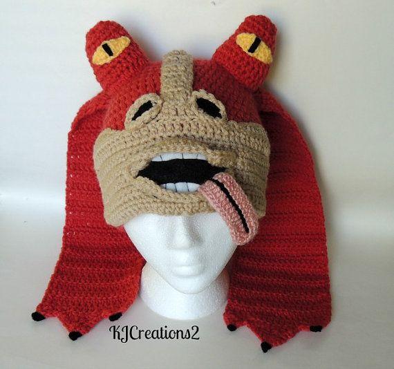 Crochet inspired character hat-newborn to adult - jar jar binks - my design NO…