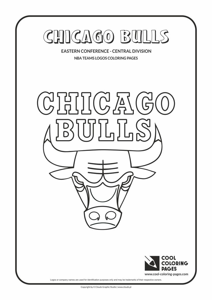 cool coloring pages nba teams logos chicago bulls logo coloring page with
