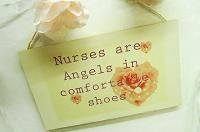NURSES ARE ..ROSE DESIGN  Perfect lovely little something for any gift occasion  Size 260 mm x 160 mm aprox. All or plaques are gift wrapped as part of a free service to our customers; Taking the hassle out of shopping, and putting the love back into gifts buying. All plaques are finished with a natural twine and ready for wall hanging.  Disclaimer: As all our products are lovingly hand finished there may be slight variations between designs.  £7.99 shop now at www.katiedolittle.com