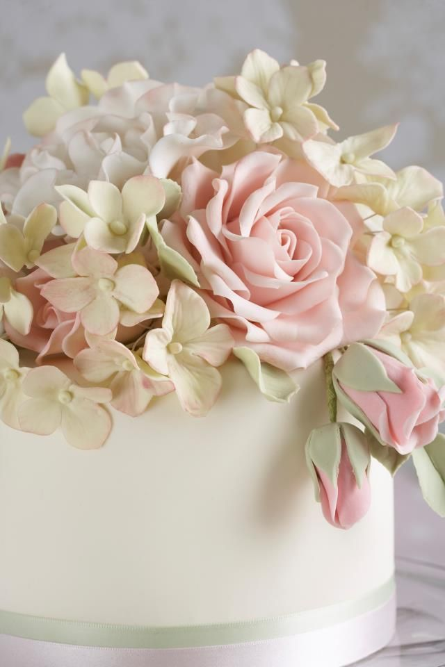 I like the coloring of the hydrangea.  The rose has thinner petals then I normally do.  Very pretty.