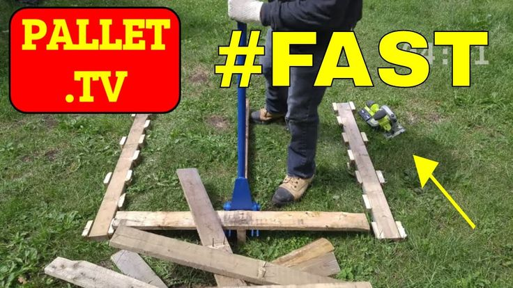 How to Dismantle Wood Pallets Fast using this Hybrid Technique suggested by one of your fellow viewers: Brandon Leyte. If you have any tricks or techniques t...
