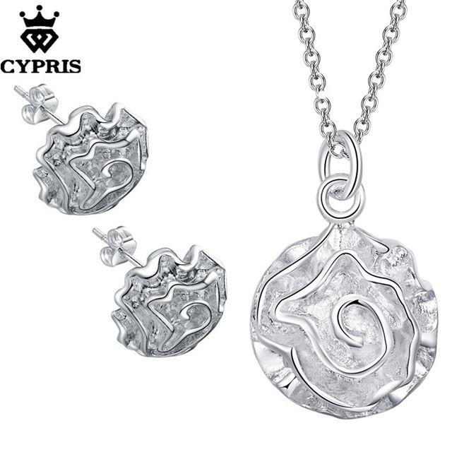 CYPRIS оптовая торговля розничная торговля набор свадьба свадьбу комплекты ювелирных изделий серьги ожерелье роза цветок…