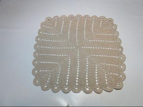 Crochet Uncinetto Centrino Quadrato Infinito