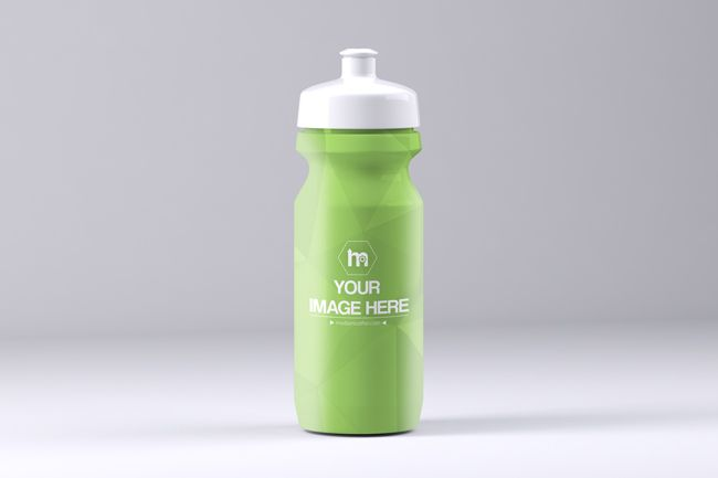Create a plastic sports drink container mockup online. Upload your own design to the bottle and customize the color of the cap. Preview your sports drink or protein shaker design online.