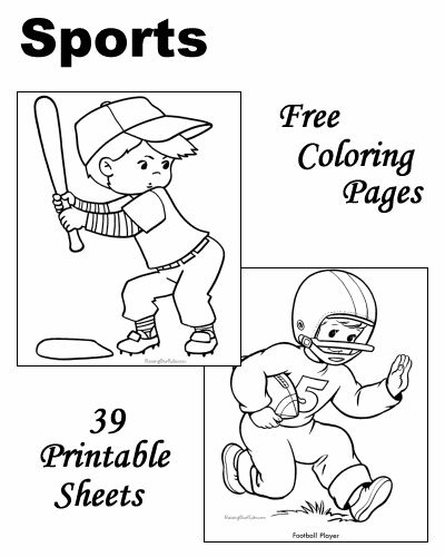 sports activities coloring pages - photo#17