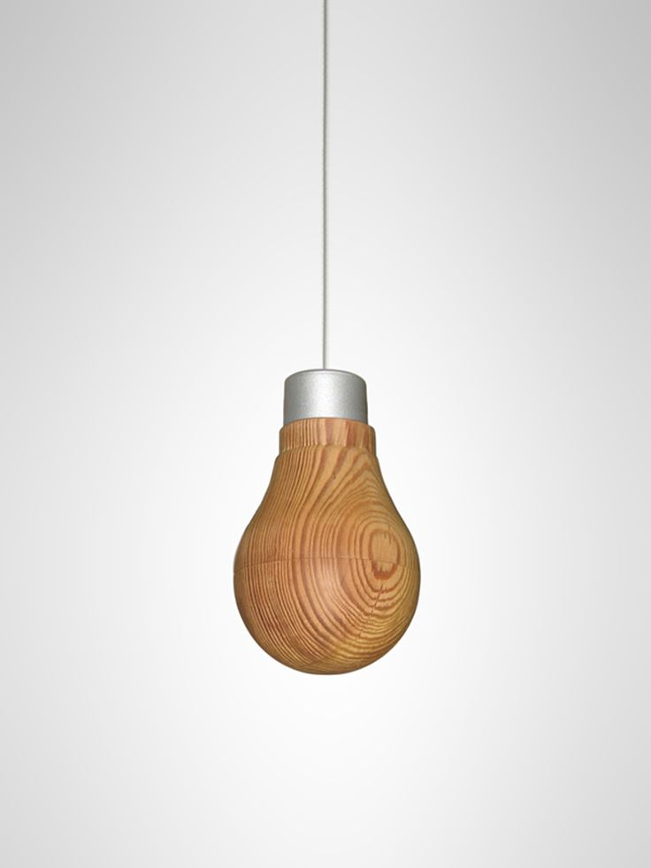 Wooden Light Bulb by Fukusada Design