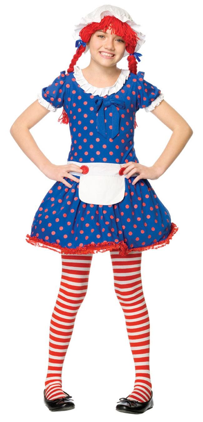 Girls Rag Doll Costume - Rag Doll Costumes