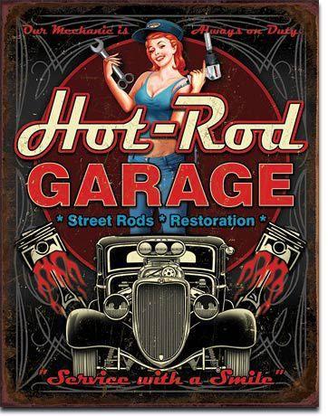 Hot Rod Garage Restorations Sign                                                                                                                                                                                 More