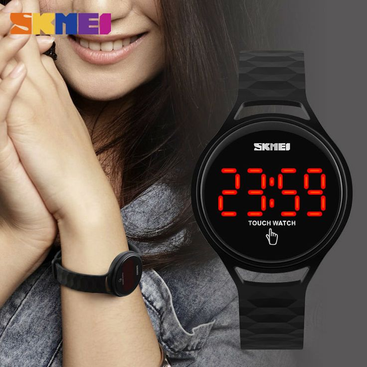 SKMEI 1230 Trendy Men Women Digital Watch Touch Screen LED Display PU Strap Sport Watch  #women #men #fashion #jewelry #watches