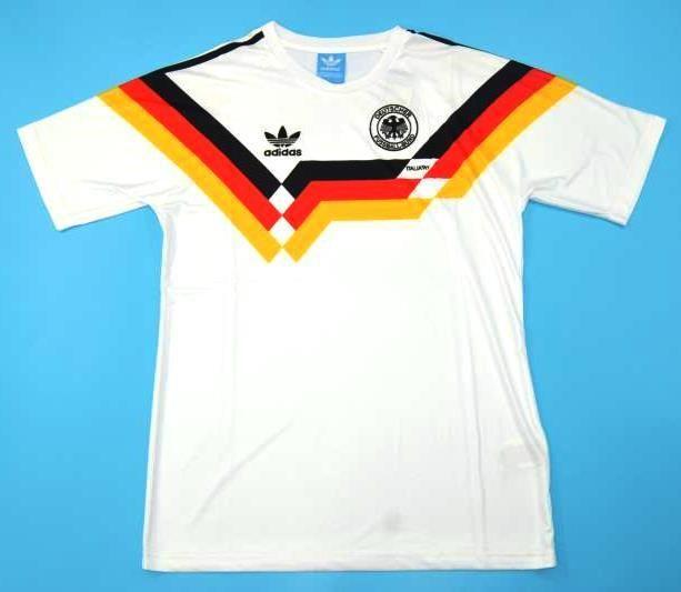 Germany Retro Soccer Jersey World Cup 90 Retro Football Shirts Football Shirt Designs Classic Football Shirts
