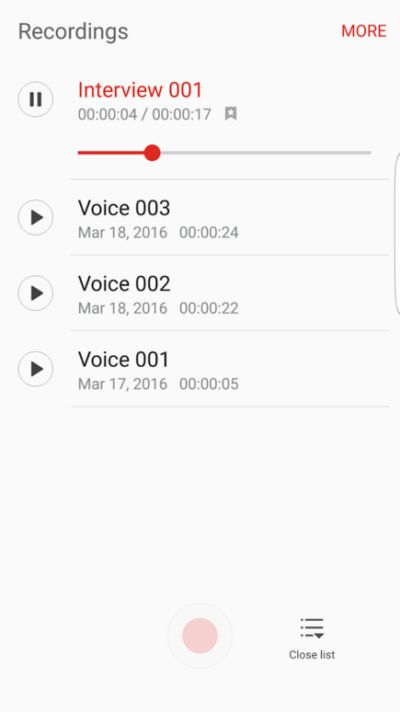 Samsung Launches Voice Recorder App For The Galaxy S7 | Androidheadlines.com