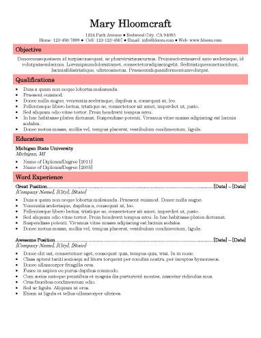 461 best resume templates and samples images on pinterest resume templates free resume and