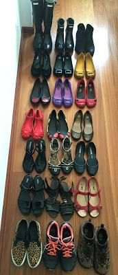 All my shoes - Como destralhar e organizar sapatos