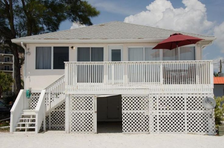Beachshore Cottage Direct beachfront 3 BR Vacation Home just south of the Pier in Fort Myers Beach