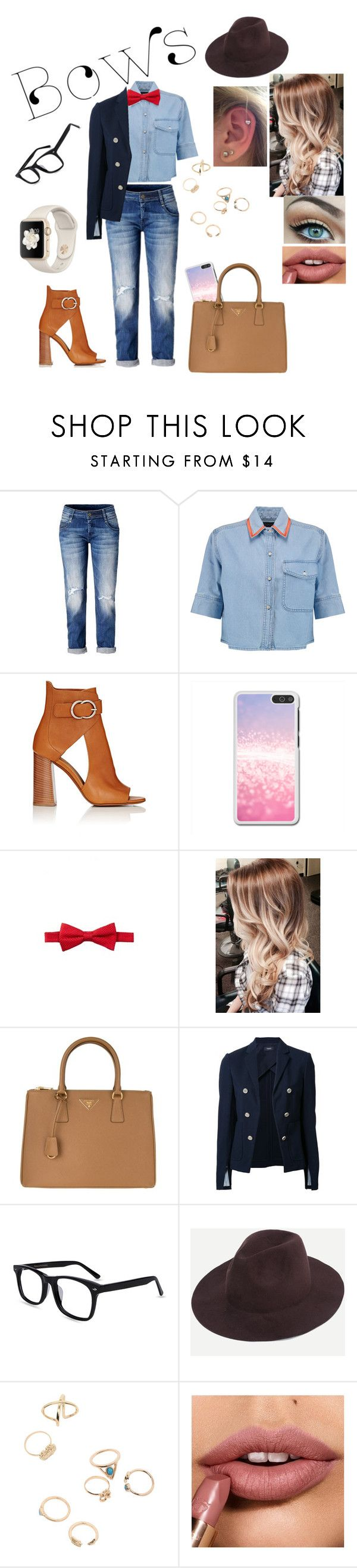 """""""Bow Ties"""" by kayy2558 ❤ liked on Polyvore featuring Être Cécile, Chloé, Nordstrom Rack, Prada and Theory"""