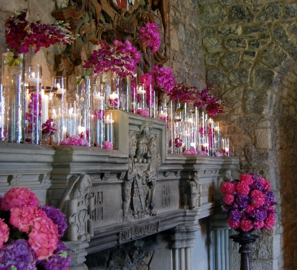 138 best MANTLE FLORAL ARRANGEMENTS images on Pinterest | Wedding ...