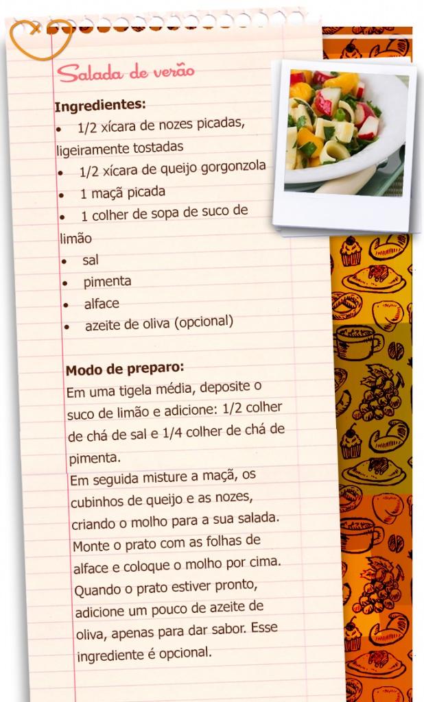 Receita de saladas: salada de verão