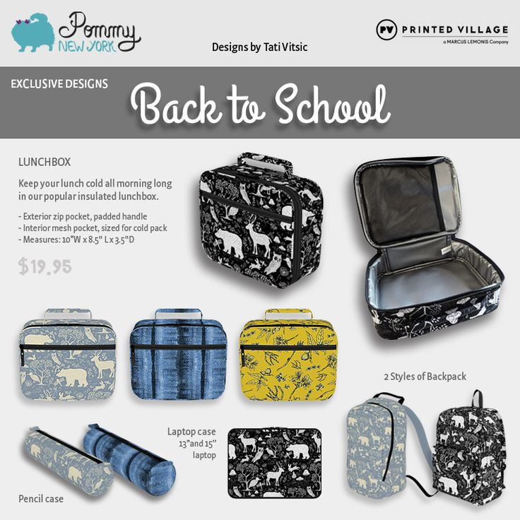 Back to School products by Pommy New York for sale at Printed Village: https://www.printedvillage.com/search?page=1&q=pommy&type=product