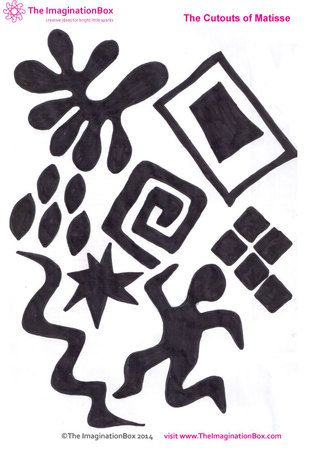 Matisse 'cut out' collage activity, free download