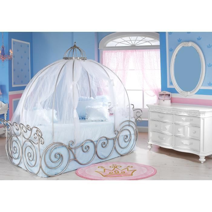 Details About Disney Carriage Bed Canopy Sheer Just The