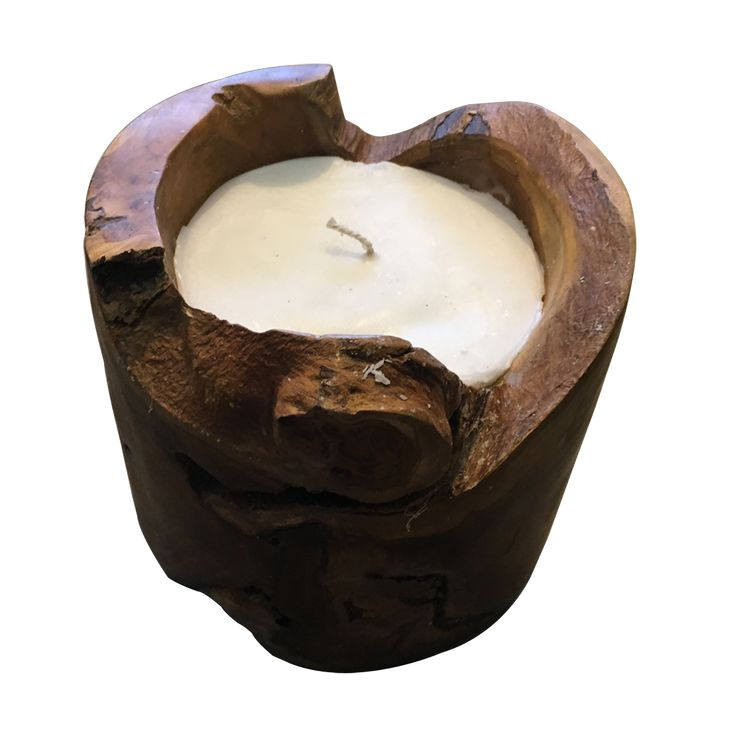 Wooden candle big. The wooden candle holder offer the uniqueness of nature to your place.