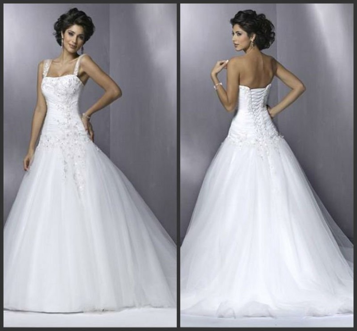 Fashion Beading Spaghetti Strap Tulle Bubble Wedding Dress from Reliable Bubble wedding dress suppliers on www.aliexpress.com/store/800269