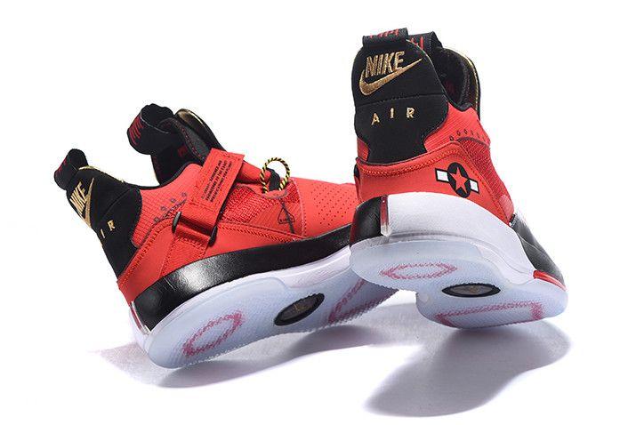 new styles 05802 7035f 2018 Air Jordan 33 Future of Flight Bright Red Black White Sneakers-3