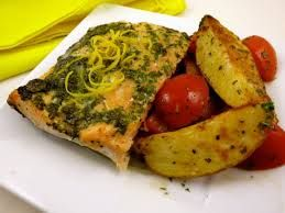 Image result for salmon potatoes