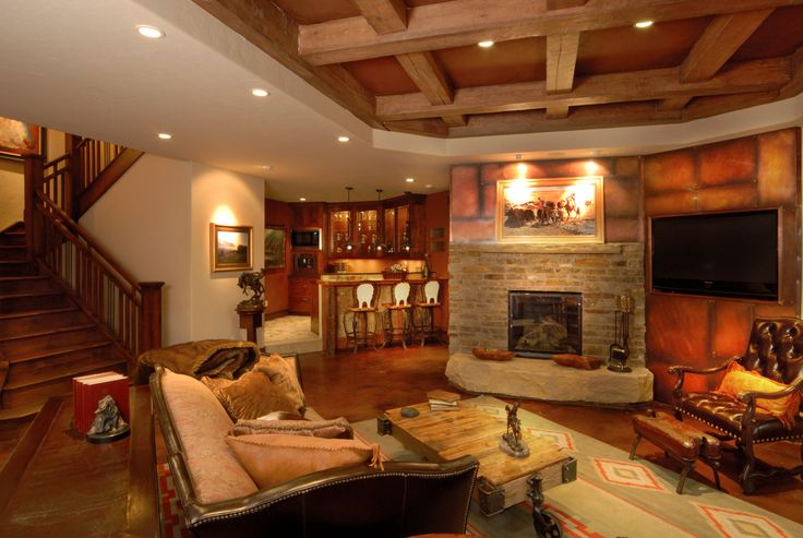 Luxury Entertainment Room With Fully Featured Wet Bar