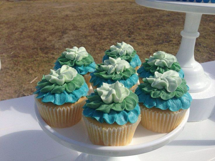 Under the Sea - Cupcakes - Dessert Buffet by Sweet Soirees (www.sweet-soirees.com.au)