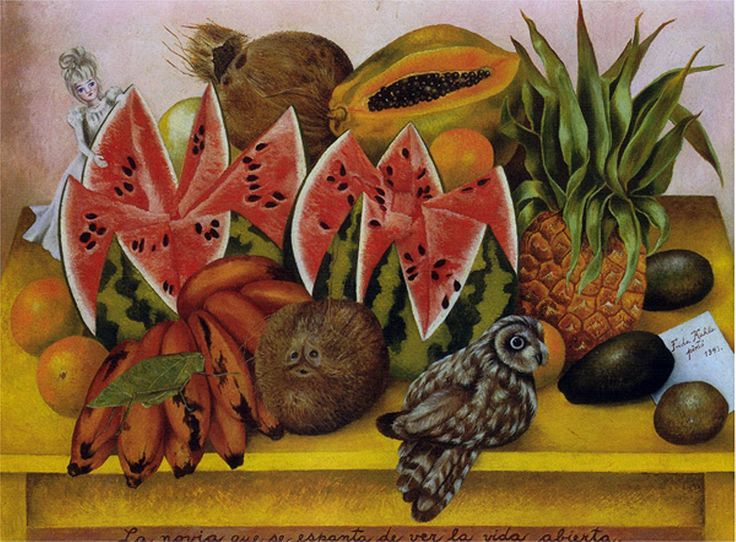 """The Bride Frightened at Seeing Life Opened,"" painting by Frida Kahlo, 1943."