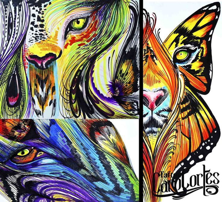 Caro cortes Colombian tattoo artist. http://carocortes.tumblr.com/ http://www.carocortes.com/ #lion #trip #leon #female #tattoo #artist