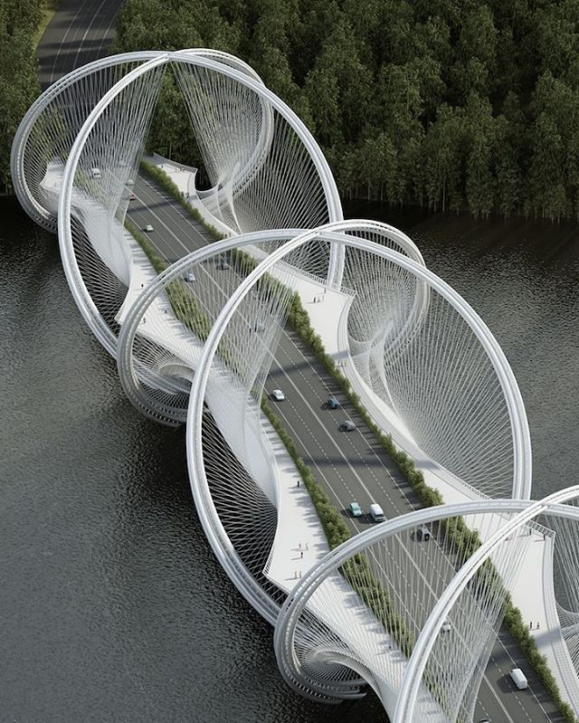 San Shan Bridge in China. The bridge will be completed in time for the 2022 Winter Olympic Games in Beijing, and will span across the Gui River connecting Beijing's city center to Zhangjiakou. Vs@rebazhussein