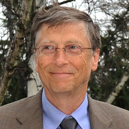 Bill Gates.  Net worth $72 B as of Sept. 2013.  Source of wealth:  Microsoft, self-made.  Education:  Drop out, Harvard.  (Forbes.com)
