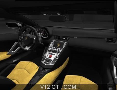Lamborghini Aventador LP700-4 jaune intérieur / Lamborghini / Photos GT / Les plus belles photos de GT et de Classic. - V12 GT - L'émotion automobile