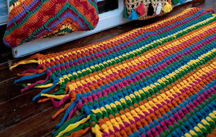 Полосатый коврик