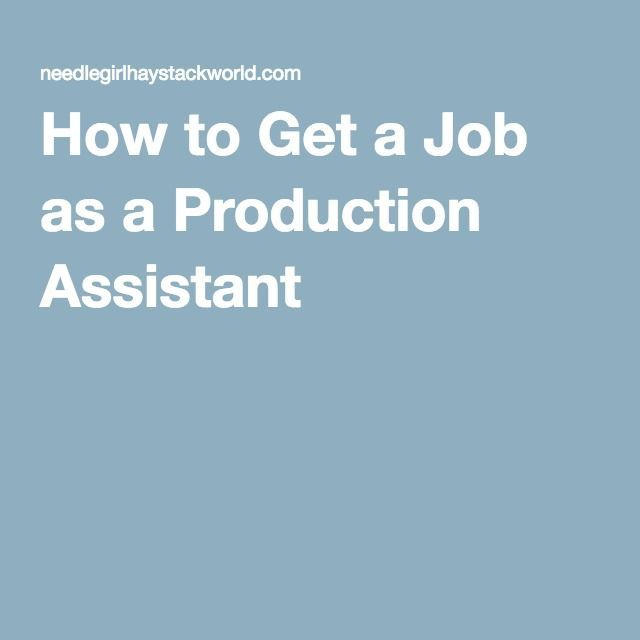 Best 25+ Production assistant ideas on Pinterest Film making - film production assistant resume