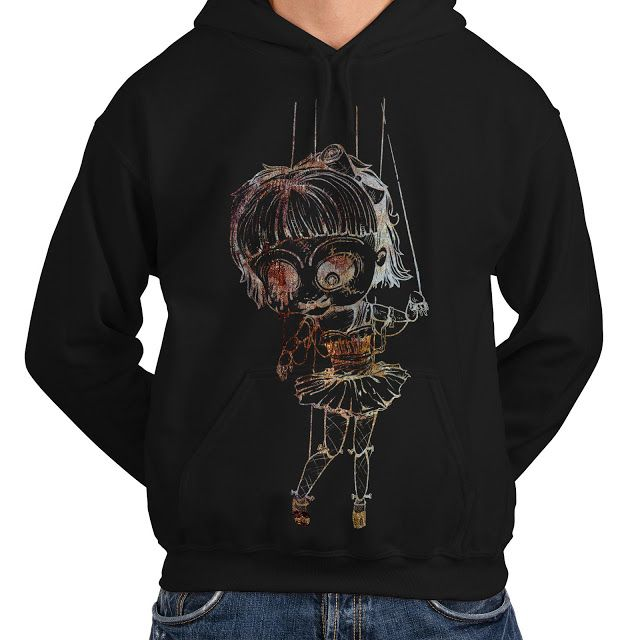 For SALE: Undead Marionette Creepy Doll Mens Hoodie S-5XL New by Wellcoda