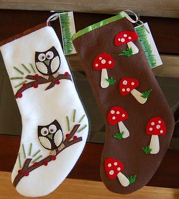 """C"" is for Crafty: Felt Christmas Stockings"
