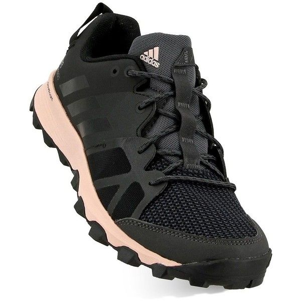 Adidas Outdoor Kanadia 8 TR Women's Trail Running Shoes ($80) ❤ liked on Polyvore featuring shoes, athletic shoes, black, black laced shoes, adidas footwear, traction shoes, black shoes and laced shoes